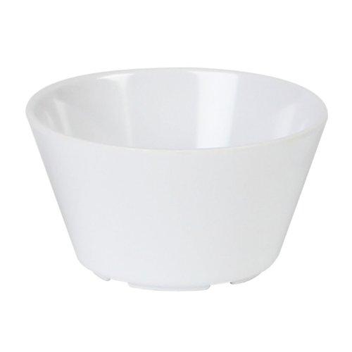 Excellanté Milan Melamine White Collection 3.875-Inch 8-Ounce Bouillon Cup, White, 12-Piece