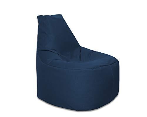 Lacasa Sitzsack XL-XXL Outdoor Indoor-Wasserdicht Wetterfest-Bodenkissen Sitzkissen Beanbag- Erwachsene Kinder-Gaming Sessel- EPS StyroporFüllung-Hochwertiges Oxford 600D (XXL - 80 cm Ø, Marineblau)