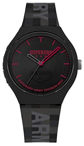 Superdry Herren Analog Quarz Uhr mit Silikon Armband SYG251B