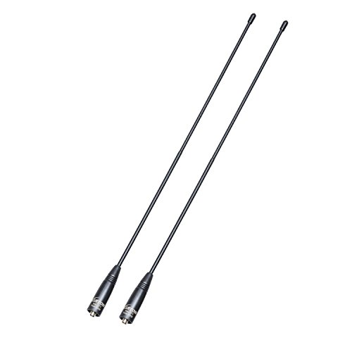 Walkie Talkie Antenna 15.6-Inch Whip Dual Band UV VHF/UHF 144/430Mhz Antennas SMA-F for UV-82 UV-B5 GT-3 BF-F8HP UV-5RA UV-5RE UV-5R by LUITON (2 Pack)