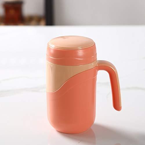 hgkl Taza Termo Taza de cerámica Tvas de vacío Frasco de vacío a Prueba de Fugas Termos aislados Taza Taza de té de Oficina de Oficina Taza de café con asa 380ml (Color : Orange)