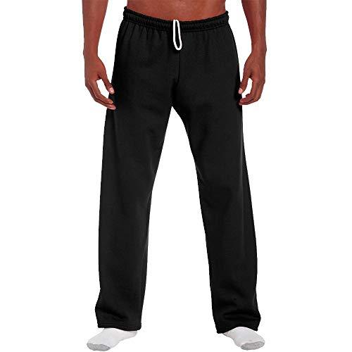Gildan–Pantaloni da jogging con caviglia aperta nero M