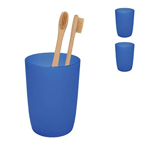 L+H 2X Zahnputzbecher aus hochwertigem Kunststoff im Set   Mundspülbecher für Kinder & Erwachsene   Ideal Als Zahnputz-Becher Trinkbecher Zahnbürstenhalter