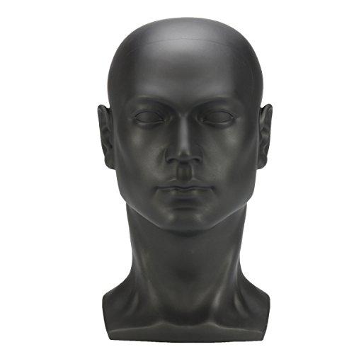 Professioneller männlicher Mannequin-Kopf für Kopfhörer, Hüte, Perücken, Schmuck-Display etc. (Gold/Schwarz)