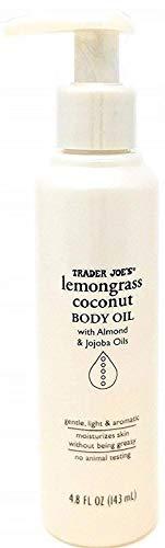 Trader Joes Lemongrass Coconut Body Oil with Almond and Jojoba Oils 4.8 FL OZ (143 ml)