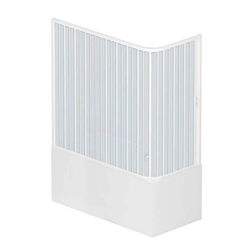ROLLPLAST PINTO PVC Badewannefaltwand 70x170 cm mit seitlicher Öffnung Mod. Nadia