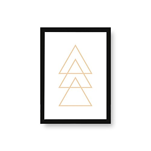 Kenay Home Lámina Trio A3, Papel, Blanco y Dorado, 297 x 420 mm