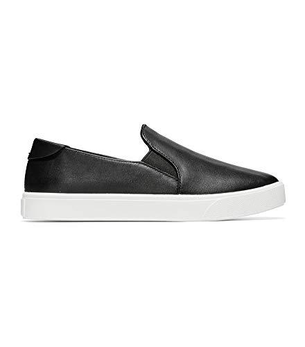 Price comparison product image Cole Haan Women's Grandpro Spectator 2.0 Slip ON Sneaker,  Black Leather / Optic White