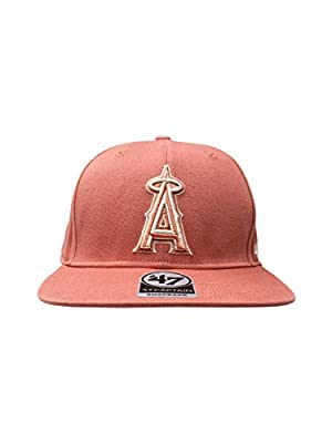 '47 Los Angeles Angels Brand Captain Island Snapback Hat Adjustable MLB Cap Straight Brim
