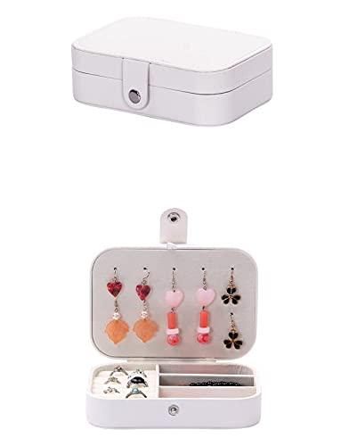 Aidou Organizador de joyas con cremallera cuadrada de doble capa, caja de joyería de almacenamiento para pendientes, anillo, collar, pulsera, vanidad para viajes