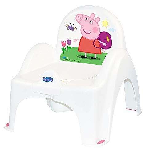 Tega Baby ® Kinder-Töpfchen 6 Modele und Verschiedene Sets Töpfchen + Toilettensitz + Tritthocker Peppa Pig Wutz | rutschfest und besonders sicher, SET:Allein, Farbe:Stuhl Peppa - rosa
