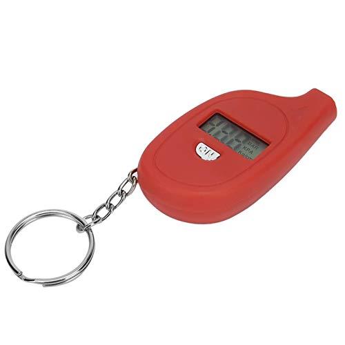 Emoshayoga Mini medidor de neumáticos LCD presión del inflador de neumáticos Herramientas de reparación de neumáticos portátiles(Red)