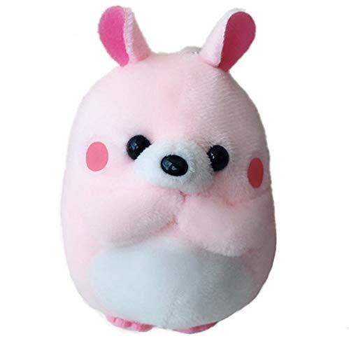 Schattige Konijn Gevulde Speelgoed, Tas Rugzak Hanger Sleutelhanger Knuffels Poppen Kinderen Speelgoed, Kinderen Meisje Verjaardagscadeau 10Cm (Roze)