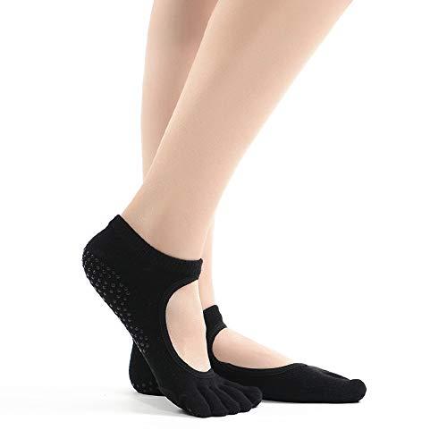 Calcetines Yoga Antideslizante Silicona Gránulos para Barre, Yoga, Pilates, Fitness Calcetines