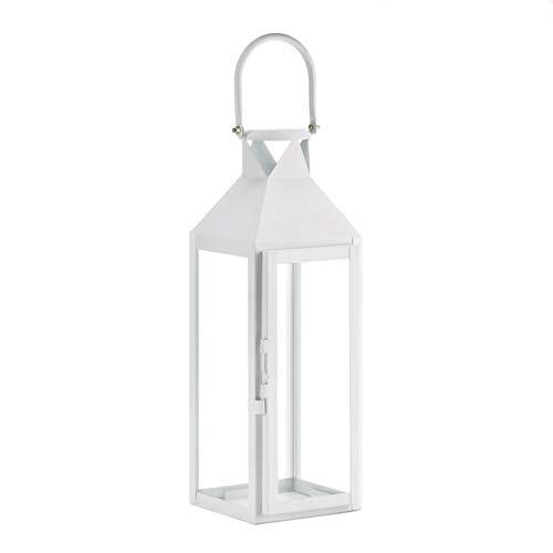 White Manhattan Cable Lantern