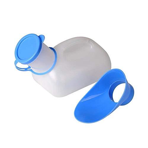 EROSPA® - Tragbare Mobile Toilette (Urinal) mit Tragegriff - 1.000 ml - Männer/Frauen/Kinder