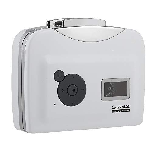 Socobeta Convertidor de cassette a MP3 Convertidor USB Reproductor de música de...