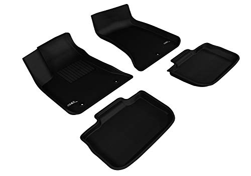 3D MAXpider Dodge Charger RWD 2011-2020 Custom Fit All-Weather Car Floor Mats Liners, Kagu Series (1st & 2nd Row, Black)