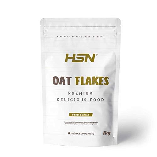 Copos de Avena Integrales Finos Oat Flakes de HSN | Cereal con Proteínas, Carbohidratos de Lenta Digestión y Ácidos Grasos Esenciales | Aporte de Fibra | Vegano, Sin Lactosa, Sin Conservantes, 1kg