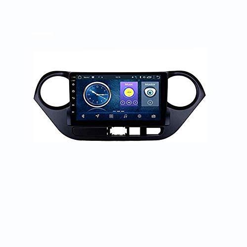 Hesolo Autoradio da 9 Pollici in Dash Car Stereo Android 7.1 MP5 Player Compatibile per Hyundai i10 (2013-2016), GPS Radio Stereo 2.5D Touch Screen con Bordo Curvo, WiFi, BT, Inversione (2G + 32G)