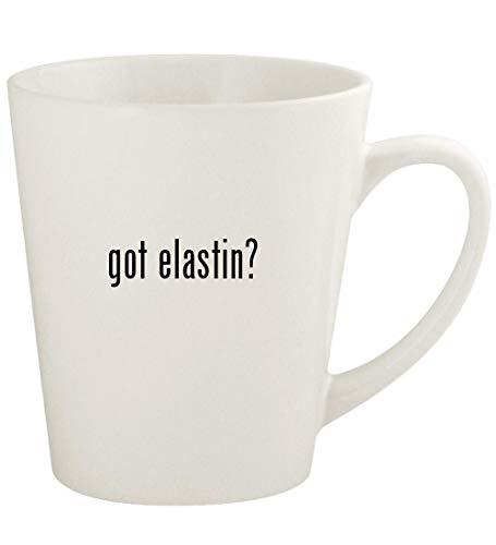 got elastin? - 12oz Ceramic Latte Coffee Mug Cup, White