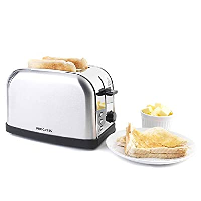 PROGRESS EK2982SSP Classica 2-Slice Toaster with Variable Browning, 850 W