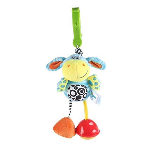 Juguetes sensoriales, juguetes sensoriales de agua dulce para bebés, juguetes de sonajero para colgar para bebés, juguetes para cochecito con clip para cochecito y silla de paseo y asiento de automóv