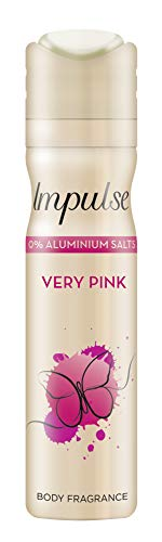 Impulse Deospray Very Pink ohne Aluminium, 6er Pack (6x 75 ml)