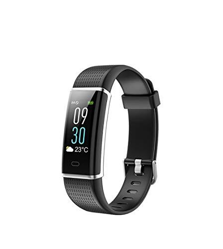 ARAYACY Intelligenter Fitness-Tracker, Fitness-Tracker-Uhr Mit UltradüNnem Touchscreen Und Armband, Tragbarer AktivitäTs-Tracker Als SchrittzäHler-Schlafmonitor,Black