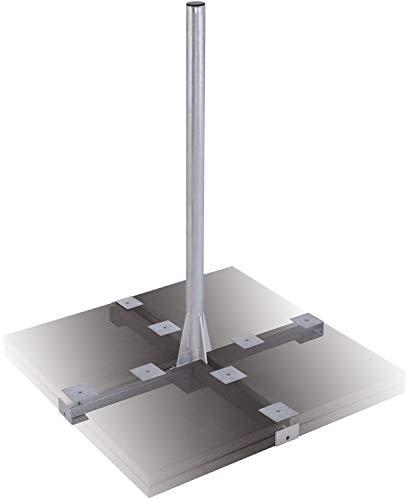 DUR-line Herkules XL 120cm 8-Plattenständer Feuerverzinkt - sehr stabil - kinderleichte Montage [Flachdachständer, Balkonständer, Gehwegplatten, Terassenständer, Sat-Antenne]
