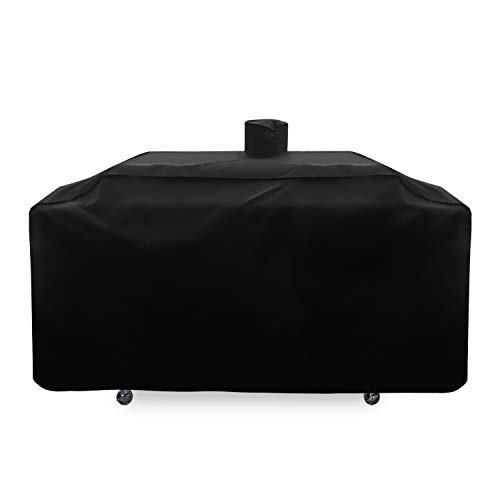 SunPatio Outdoor Heavy Duty Waterproof Grill Cover for Smoke Hollow Gas/Charcoal Grill and More, UV Resistant Barbecue 79 Inch Cover with Sealed Seam, All Weather Protection, Black