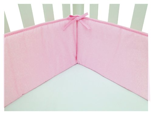 American Baby Company Cotton Percale Crib Bumper, Pink, for Girls