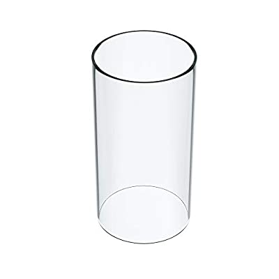 """KETELAMP Hurricane Candle Holder Glass, Open Ended Glass, Bottomless Cylindrical Glass, Glass Lamp Shade of 2.5"""" x 8"""" (Multiple Specifications) from KETELAMP"""