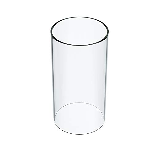 """KETELAMP Hurricane Candle Holder Glass, Open Ended Glass, Bottomless Cylindrical Glass, Glass Lamp Shade of 3.5"""" x 5"""" (Multiple Specifications)"""