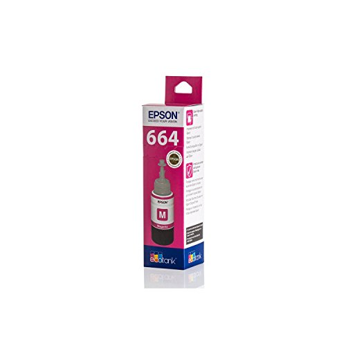 Original Epson C13T664340 / T6643, für EcoTank ET-2650 Premium Drucker-Patrone, Magenta, 70 ml