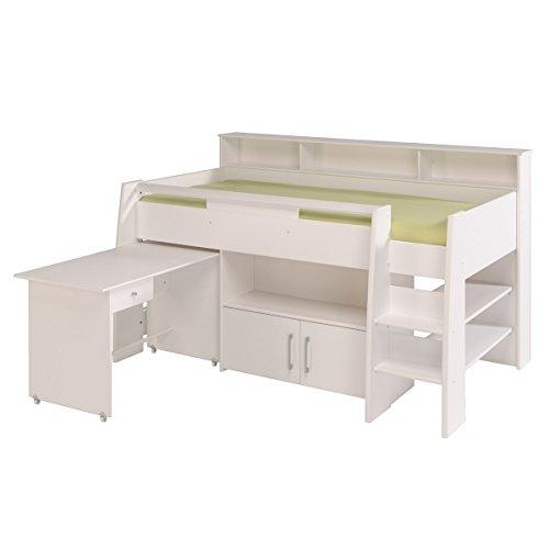Kinder Avenue Einzelbettgestell, 211x 132x 130cm, weiß