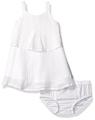 7 For All Mankind Baby Girls' Pintuck Dress, Jet Stream, 3-6M