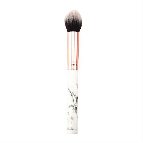 NXXS - Brocha de maquillaje para mujer, 1 pieza, pincel de mármol profesional, herramienta de maquillaje con llama, pincel de maquillaje suave para iluminar cosméticos, base de maquillaje, brocha para polvos, brochas de mármol de la Federación Rusa
