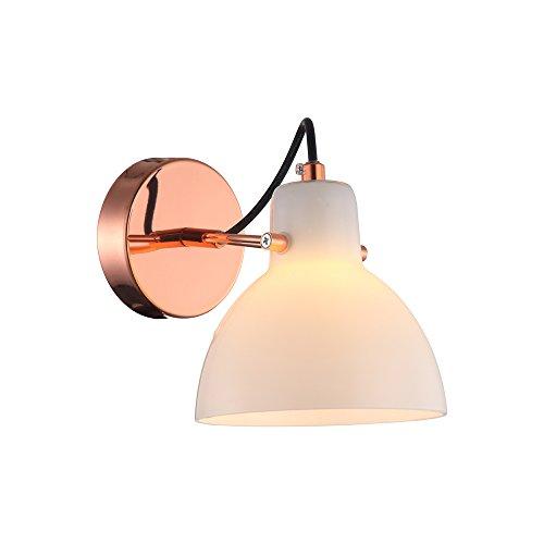 Arandela Bella Iluminação Bar No Voltagev Branco/ Cobre