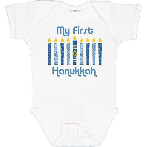 inktastic 1st Hanukkah Candles Infant Creeper Newborn White 27db6