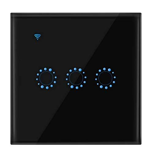 WiFi Smart Touch Switch, Works with Amazon Alexa Google 3 Way (Black)
