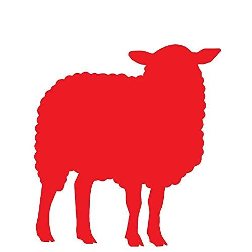 Decoración del Tronco del Coche de Las ovejas Decoración del Tronco de la Moda PVC Personalizado Pegatinas de protección Solar Impermeable 15 x 14 cm (Color : 3, Size : 21 x 20 cm)