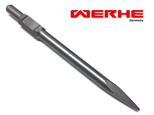 WERHE Profi SDS HEX Spitzmeißel Schaft zeigte Meißel für Abbruchhammer 30 x 410 mm Stahl