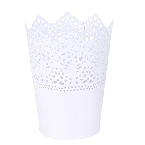 Multifonction Pot de Fleur en plastique Support Stylo Organisateur de Pinceau de Maquillage - Blanc