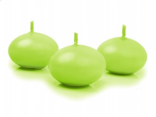 SiDeSo® 5 Stück Schwimmkerzen 40mm viele Farben (apfel grün matt)