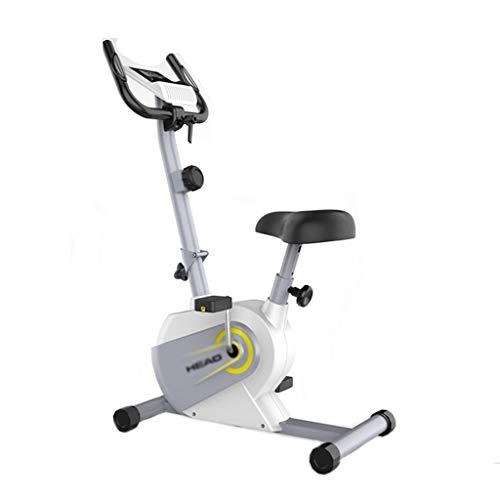 Heimtrainer Indoor-Pedalrad Faltbares Magnetisches Heimtrainer 8-Gang-Widerstandseinstellung Ergonomisches Design Klappbarer Liege-Heimtrainer (Color : Weiß, Size : 81 * 50.6 * 100.3cm)