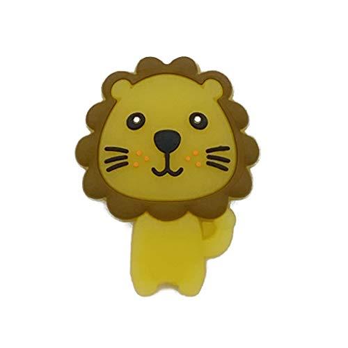 heilonglu León silicona dentición sensorial juguete para niños recién nacidos, habitación DIY decoración