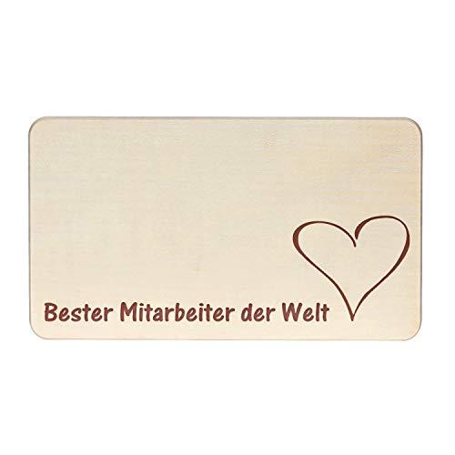 Bütic GmbH Gegraveerde ontbijtplank, snijplank, vierkant, met motief naar wens Beste medewerkers