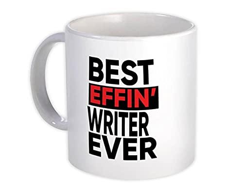 Mejor escritor de Effin : Regalo Jarra : Ocupación Trabajo Trabajo Divertido Broma F * cking
