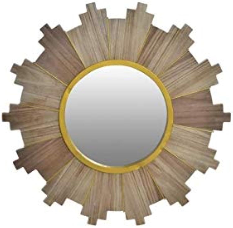 Miroir en bois 66 cm Naturel